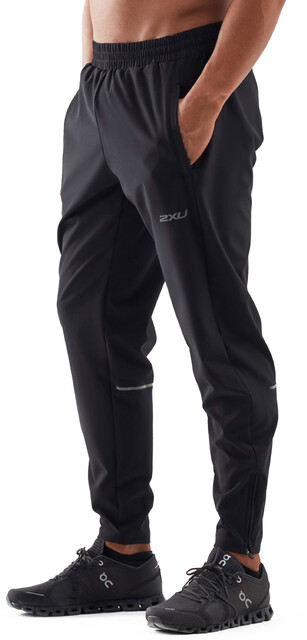 2XU Xvent Woven Pants Men blacksilver reflective